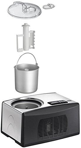 Unold 48806 Eismaschine Cortina Volumen für 1.5 Liter Eiscreme / selbstkühlender Kompressor / Timer / entnehmbarer Eisbehälter / Antihaftbeschichtung - 2